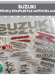 suzuki lipdukai motociklui