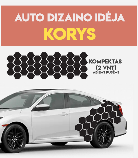 lipnios grafikos automobiliui KORYS
